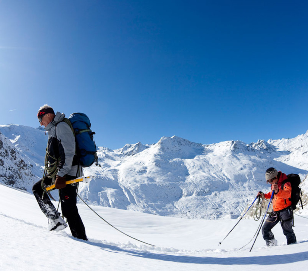 Most beautiful ski tours in a breathtaking mountain landscape