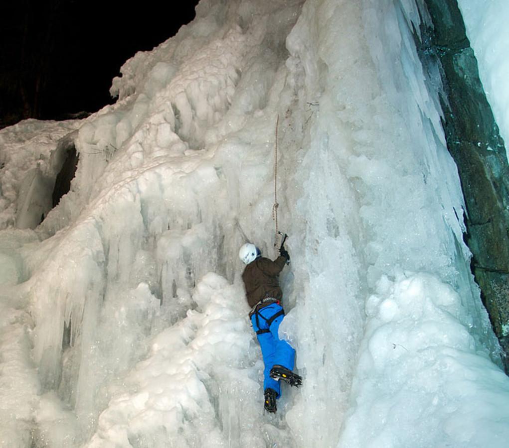 ijskletteren in het Kaunertal