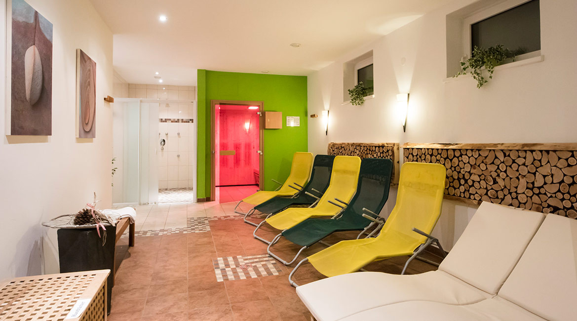 Relax in our wellness area